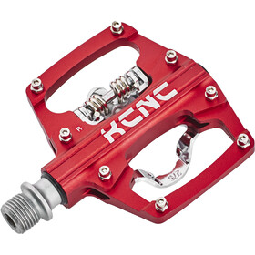 KCNC AM Trap Clipless Pedals Dual Side, red